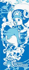 水族館ONE PIECE -ワンピース-  イルカ手ぬぐい